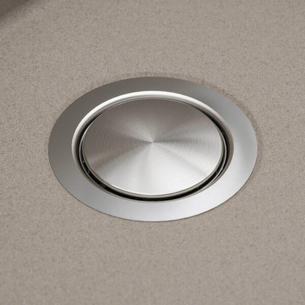 КИЛСВИКЕН Одинарная врезная мойка, серый, бежевый кварцевый композит - 893.369.33
