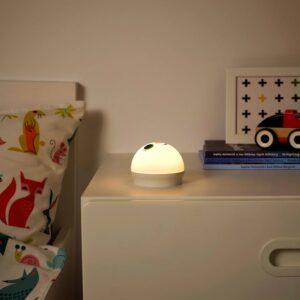 КОРНСНО Светодиодный ночник, белый, кролик с батарейным питанием - 904.408.96