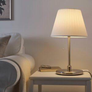 КРИСМАСТ Основание настольной лампы, никелированный - 604.056.44