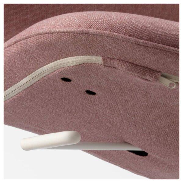 ЛОНГФЬЕЛЛЬ Рабочий стул, Гуннаред светлый коричнево-розовый, белый - 193.863.42
