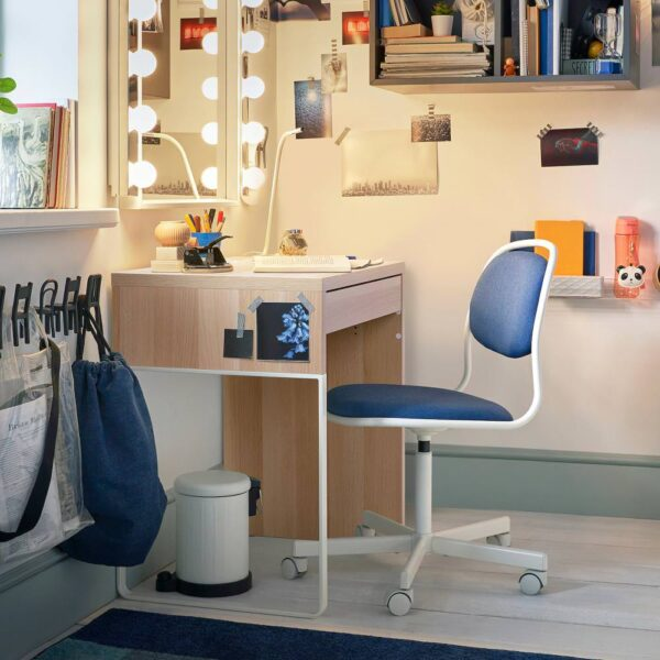 МИККЕ Письменный стол, под беленый дуб - 404.889.04