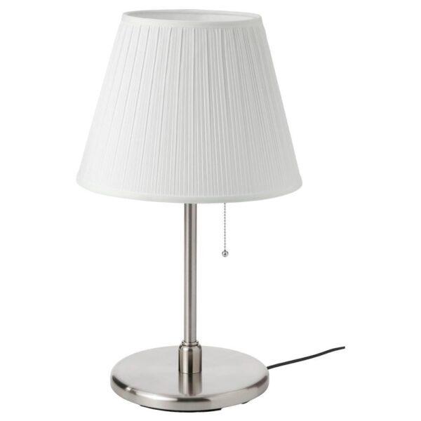 МЮРХУЛЬТ / КРИСМАСТ Лампа настольная, белый, никелированный - 293.875.53