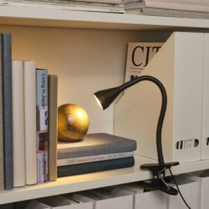НЭВЛИНГЕ Лампа с зажимом, светодиодная, черный - 104.498.86
