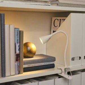 НЭВЛИНГЕ Лампа с зажимом, светодиодная, белый - 004.498.96