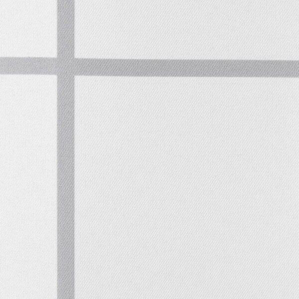 РЭЛЛЬШЁН Штора для ванной, белый, серый - 204.701.32