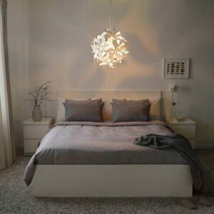 РАМСЕЛЕ Подвесной светильник, цветок, белый - 704.071.00