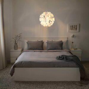 РАМСЕЛЕ Подвесной светильник, геометрический, белый - 204.071.07