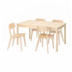 РЁННИНГЕ / ЛИСАБО Стол и 4 стула, береза, ясень - 093.900.28