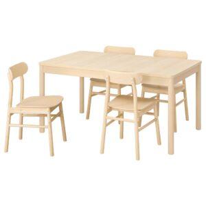 РЁННИНГЕ / РЁННИНГЕ Стол и 4 стула, береза, береза - 393.887.69