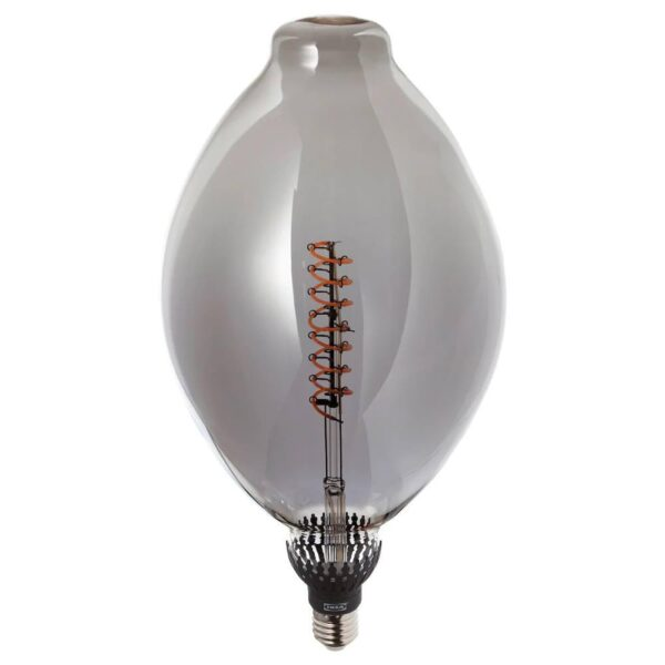 РОЛЛЬСБУ Светодиод E27 140 лм, регулируемая яркость форма воздушного шара, серое стекло - 404.116.55