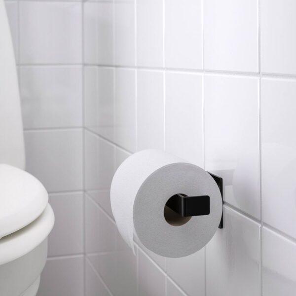СКОГСВИКЕН Держатель туалетной бумаги, черный - 004.287.14