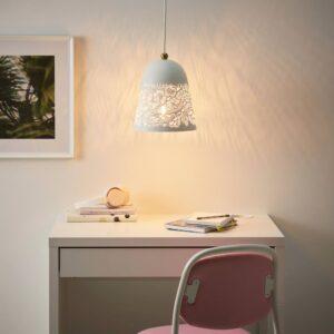 СОЛЬСКУР Подвесной светильник, белый, желтая медь - 204.408.52