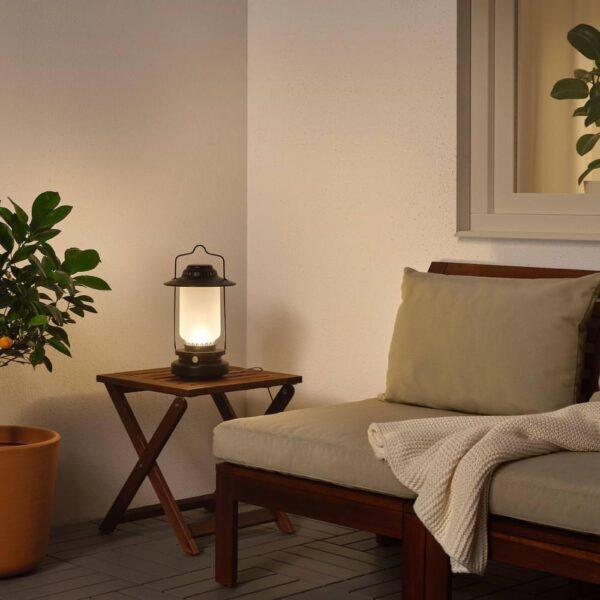 СТУРХАГА Настольная лампа, светодиодная, регулируемая яркость для сада, черный - 104.327.39