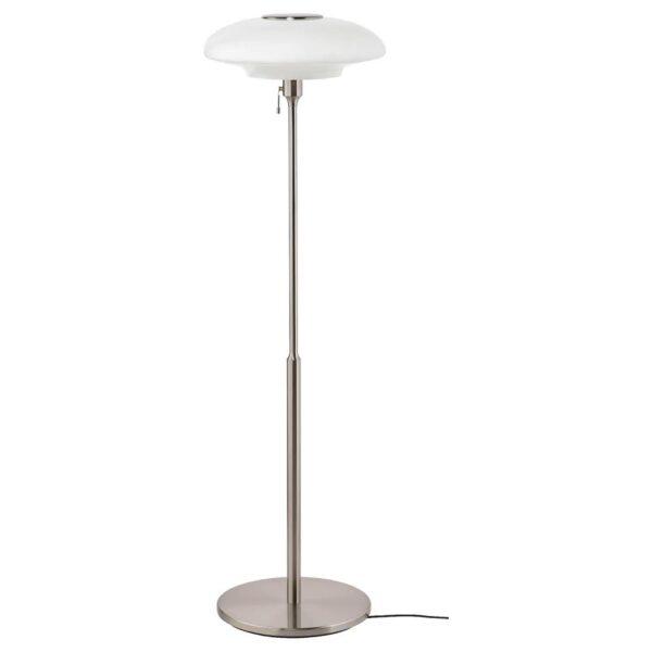 ТЭЛЛЬБЮН Светильник напольный, никелированный, молочный стекло - 704.377.48