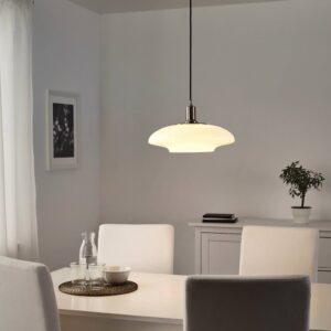 ТЭЛЛЬБЮН Подвесной светильник, никелированный, молочный стекло - 204.402.44