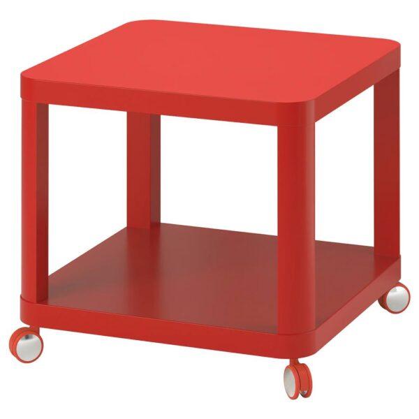 ТИНГБИ Стол приставной на колесиках, красный - 204.574.42