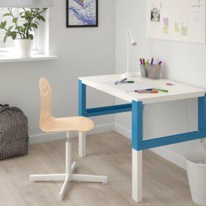 ВАЛЬФРЕД / СИББЕН Детский стул д/письменного стола, береза, белый - 193.377.90