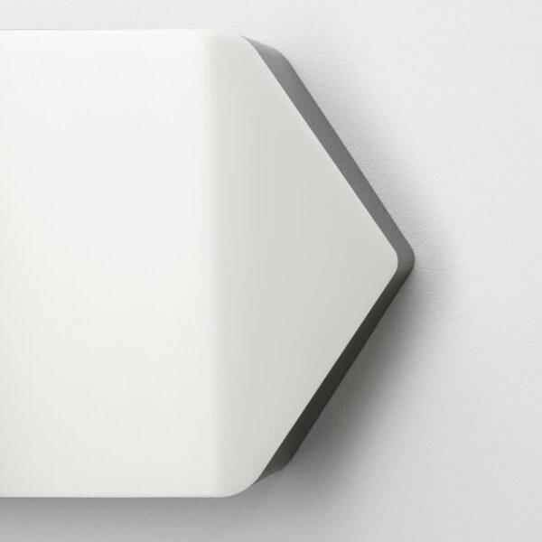 БЭГАРЕН Бра, светодиодный, стрелка белый, черный - 004.229.91