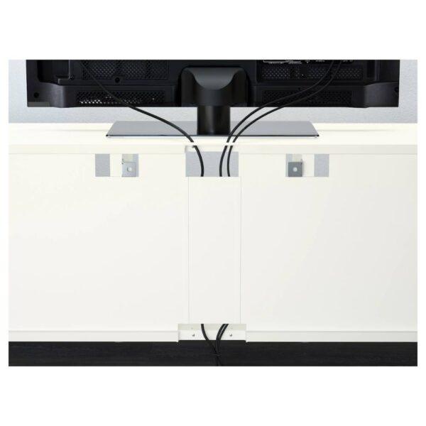 БЕСТО Шкаф для ТВ, комбин/стеклян дверцы, белый Суттервикен, Синдвик белый прозрачное стекло - 993.847.92