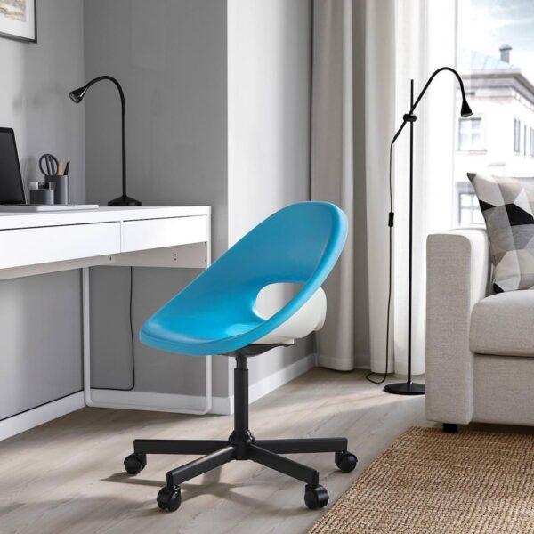 ЭЛДБЕРГЕТ / МАЛЬСКЭР Рабочий стул, синий, черный - 593.318.52