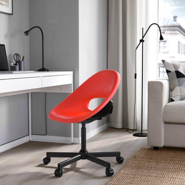 ЭЛДБЕРГЕТ / МАЛЬСКЭР Рабочий стул, красный, черный - 893.318.55