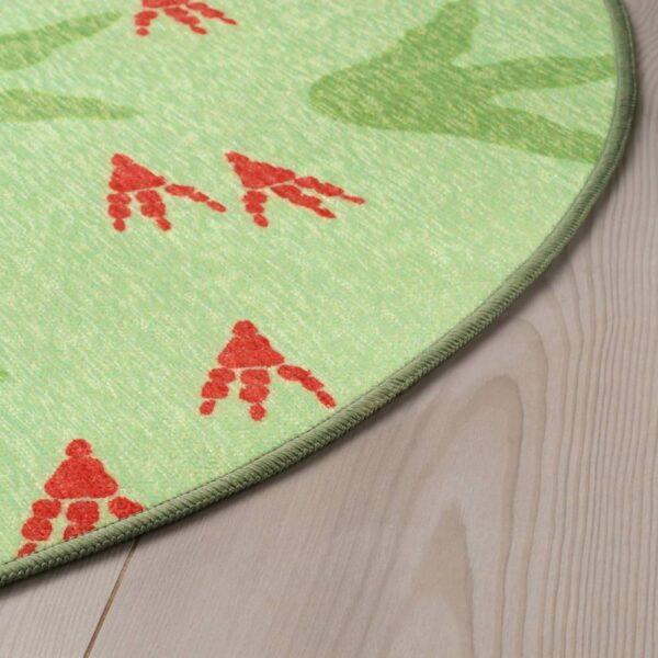 ЙЭТТЕЛИК Ковер безворсовый, следы динозавров, зеленый - 404.641.73