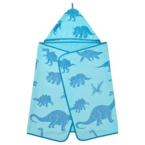 ЙЭТТЕЛИК Полотенце с капюшоном, динозавр, синий - 304.641.97