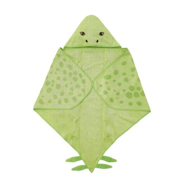 ЙЭТТЕЛИК Полотенце с капюшоном, Стегозавр, зеленый - 404.799.85