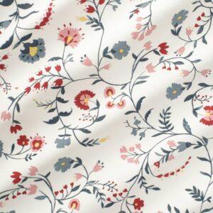 КАЛЬКБРЭКЕН Ткань, белый, с цветочным орнаментом - 804.728.16