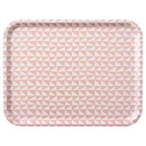 ЛУРВИГ Поднос, белый, розовый - 104.844.79