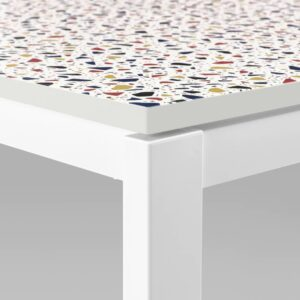 МЕЛЬТОРП Стол, мозаичный орнамент, белый - 593.908.65