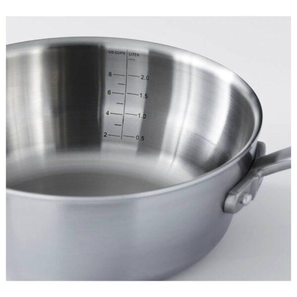 СЕНСУЭЛЛ Ковш с крышкой, нержавеющ сталь, серый - 003.791.86