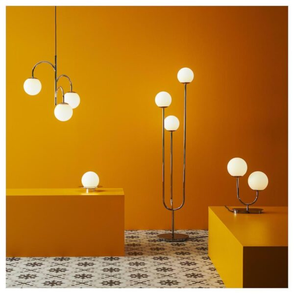 СИМРИСХАМН Лампа настольная, хромированный, молочный стекло - 104.376.85
