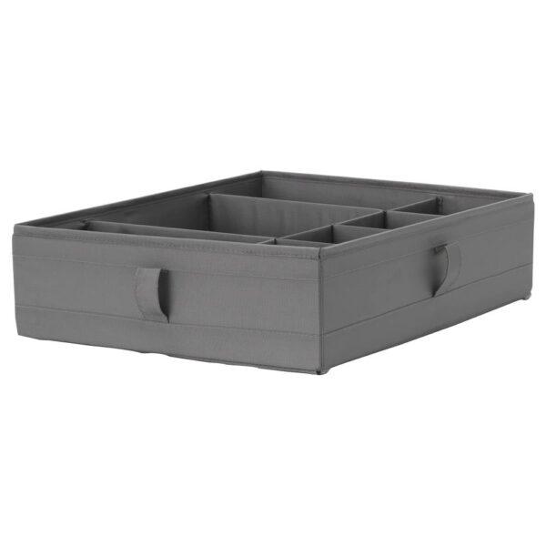 СКУББ Ящик с отделениями, темно-серый - 704.729.68