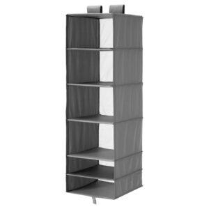 СКУББ Модуль для хранения с 6 отделениями, темно-серый - 304.729.94