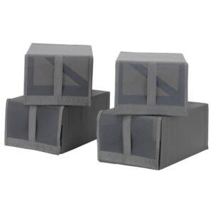 СКУББ Коробка для обуви, темно-серый - 204.729.80