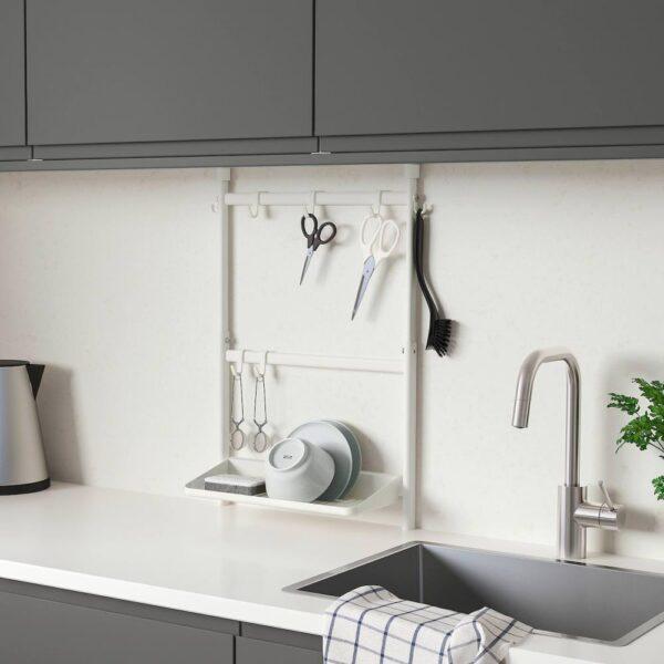 СУННЕРСТА Комплект кухонных аксессуаров, без сверления, сушилка/крючок - 193.881.95