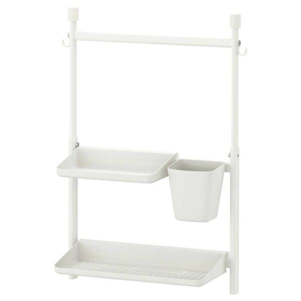 СУННЕРСТА Комплект кухонных аксессуаров, без сверления, полка/сушилка/контейнер - 593.882.02