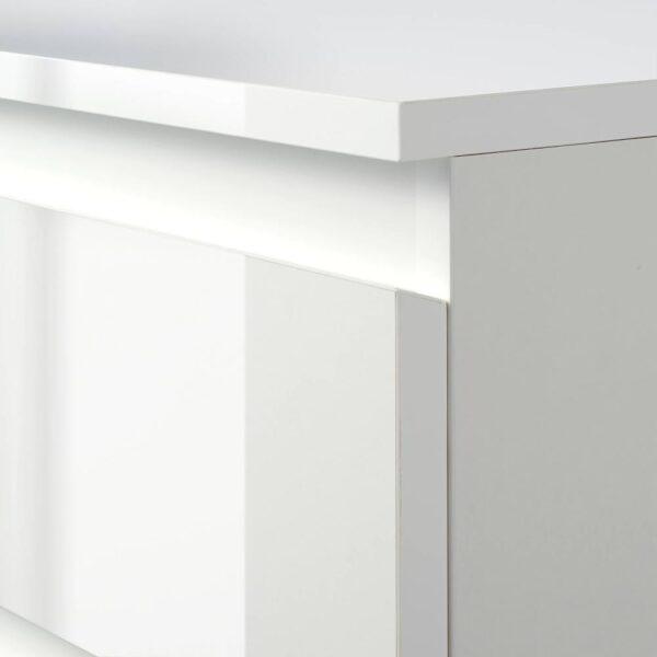 СКОНЕВИК Комод с 3 ящиками, глянцевый белый - 304.921.76
