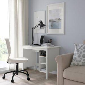 БРУСАЛИ Письменный стол, белый - 904.397.65