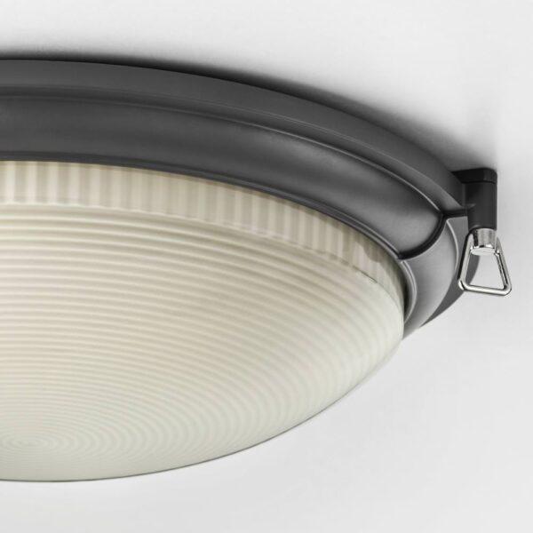 БУСПРЕТ Светодиодный потолочный светильник, антрацит - 704.069.78