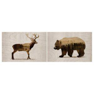 БЬЁРНАМО Картина, 2 шт, Дикие животные II - 304.861.04