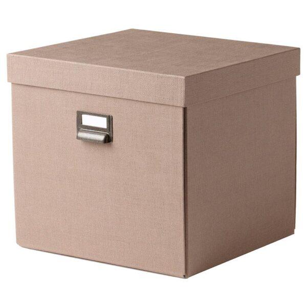 ЧУГ Коробка с крышкой, темно-бежевый - 004.746.21
