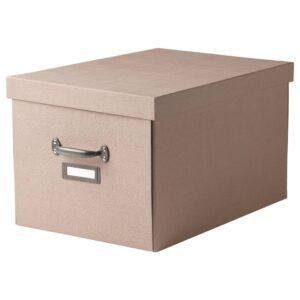 ЧУГ Коробка с крышкой, темно-бежевый - 604.746.18
