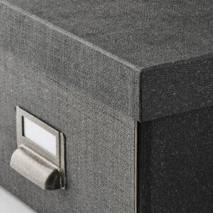 ЧУГ Коробка с крышкой, темно-серый - 004.776.67