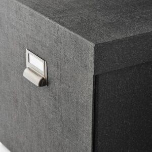 ЧУГ Коробка с крышкой, темно-серый - 804.776.73