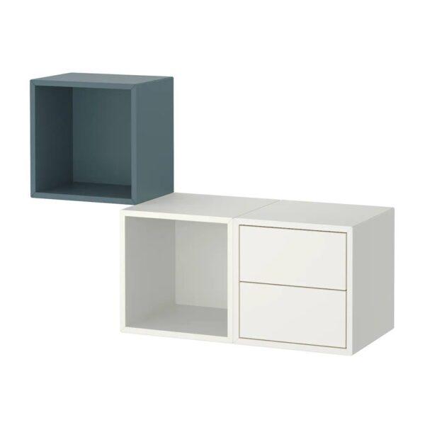ЭКЕТ Комбинация д/хранения, серо-бирюзовый/белый - 293.860.68