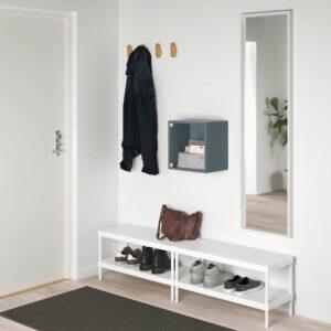 ЭКЕТ Навесной шкаф со стеклянной дверью, серо-бирюзовый - 693.854.96