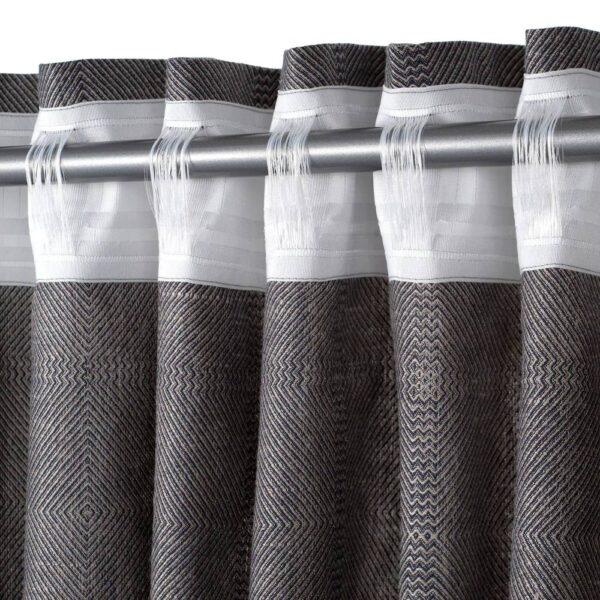 ЭРТСТАРР Гардины, 1 пара, темно-серый/естественный - 804.937.48