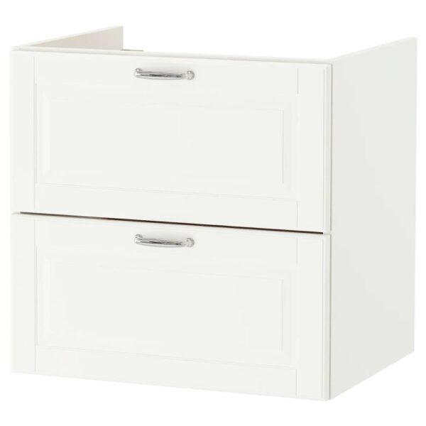 ГОДМОРГОН Шкаф для раковины с 2 ящ, Кашён белый - 404.859.05
